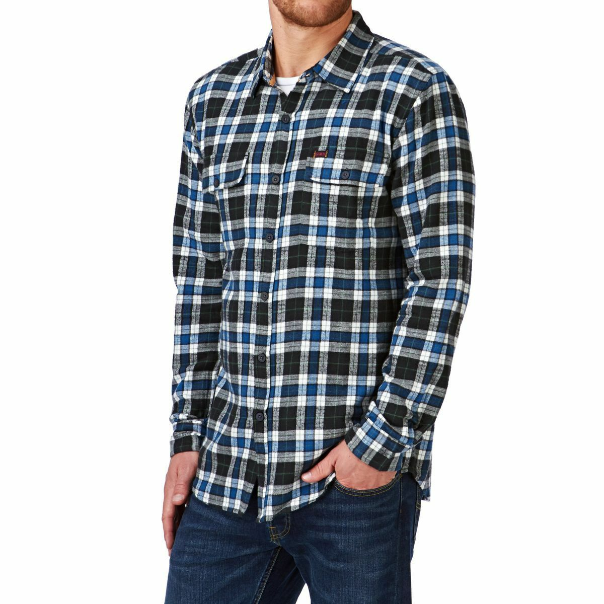 BNWT Captain Fin Co. Slub Flannel Shirt  Medium