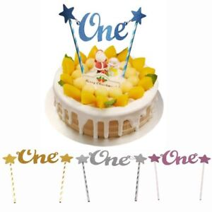 Image Is Loading New Baby Glitter Star One Cake Topper 1st
