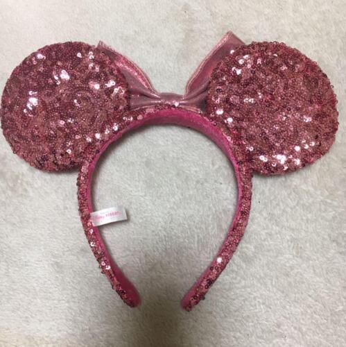 Minnie Mouse Tokyo Disney Resort Headband spangles Pink Ears Hat Plush Hairband