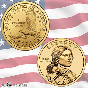 D Native American Sacagawea//Golden Dollar 2 Coin Set Uncirculated 2013 P