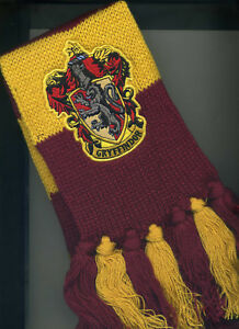 Harry Potter Deluxe Scarf Hufflepuff Hogwarts House Knitted Yellow and Black