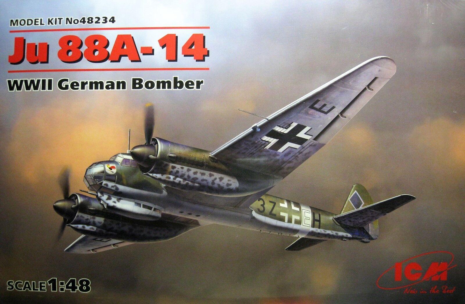 1 48 Junkers Ju.88 A-14  By ICM Models