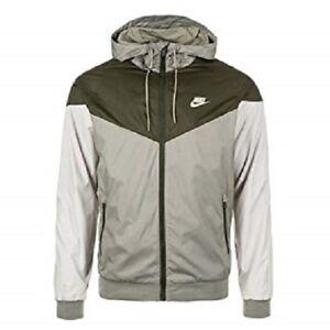 capucha 727324 completa Nike con Medium Windrunner estuco cremallera verde 666003391899 Sequoia y oliva Chaqueta SZ 004 SXR8zqq
