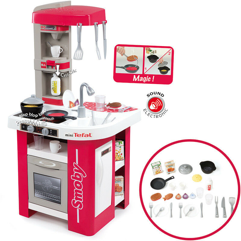 Smoby Mini Tefal Elektronische Studio Küche Kinderküche Spielzeug-küche Kinder