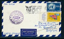 96749) Belgien SABENA FF Brüssel - Manila 8.11.70, Karte ab Schweiz