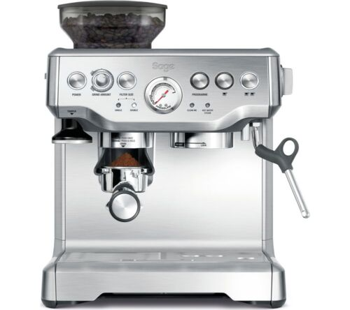 Sage Barista Express Bean to Cup Coffee Machine, Stainless Steel / Silver