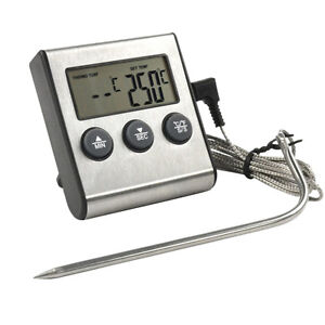 Meat candy jam kochen digital lebensmittel thermometer probe k che bbq deep fry ebay - Thermometer zum kochen ...