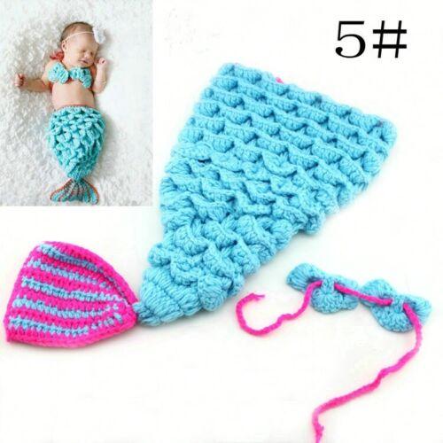 Bebé Recién Nacido Disfraz Niña Niño Ganchillo Tejido Foto Fotografía Prop Sombreros Trajes