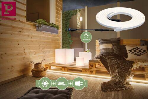 Paulmann Plug/&Shine Neon LED Stripe 5m Outdoor IP67 3000K 3050L 24V erweiterbar