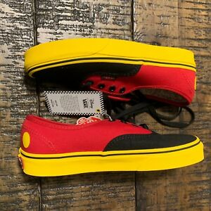 4ed43acc Vans Authentic x Disney Mickey Mouse Red Yellow Black Men 3.5 Women ...