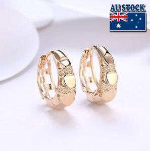 Elegant-18K-Gold-Filled-GF-GP-Huggie-Hoop-Earrings