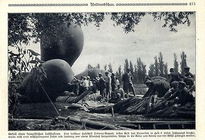 """Luftschiff-unfall Die """"clément-bayard"""" Stürzte In Die Seine Von 1909 Reputation First Luftfahrt & Zeppelin"""