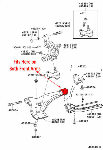 Superflex Front Control Arm Lower Inner Kit for Toyota Starlet Turbo EP82 EP91