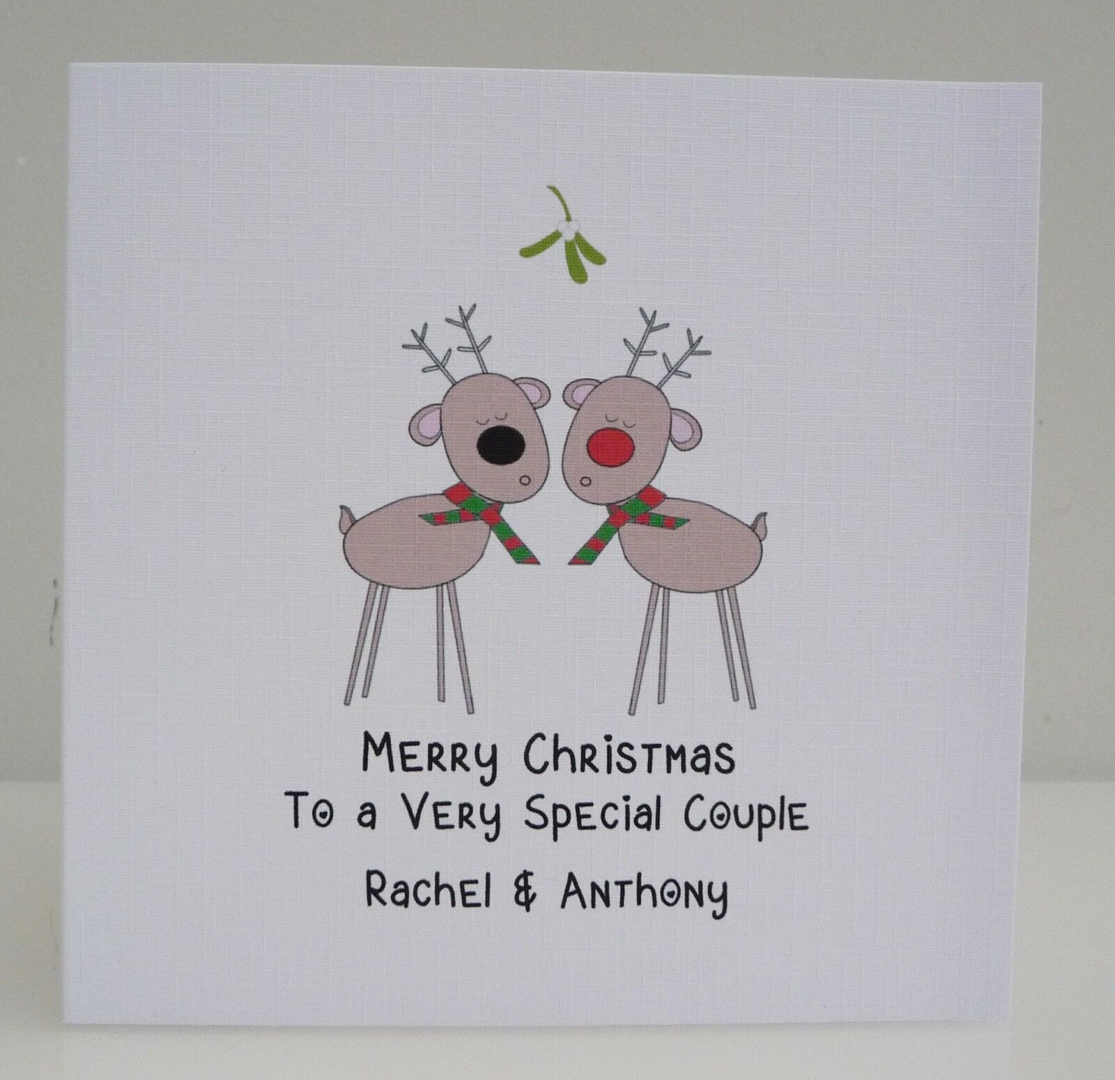 Personalised Handmade Christmas Card Sister /& Brother in Law Special Couple