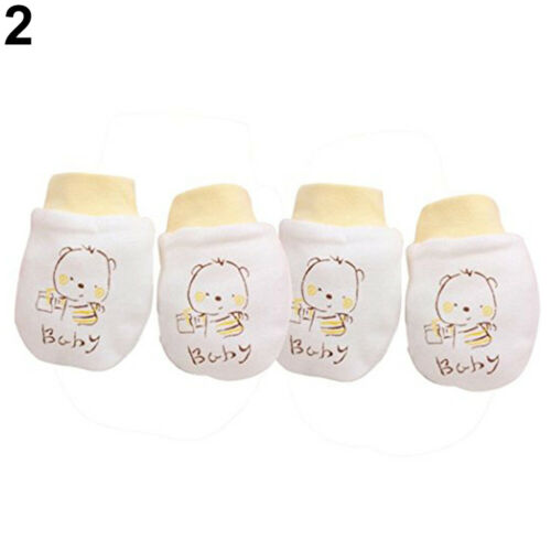 2 Pairs Newborn Boy Girl Infant Cotton Handguard Anti Scratch Mittens Gloves HN