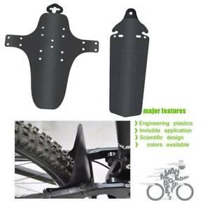 Mountain Bike Bicycle Cycling Plastic  Font /& Rear Fenders Mudgurard Strap Set