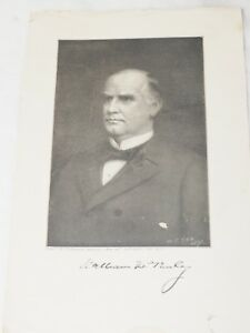 President William McKinley Woodblock Print by H.T.SEE NY From the Marceau Painti
