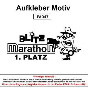 BLITZ-MARATHON-Autoaufkleber-Aufkleber-Fun-Spass-Sticker-Tuning-Lustige-Sprueche
