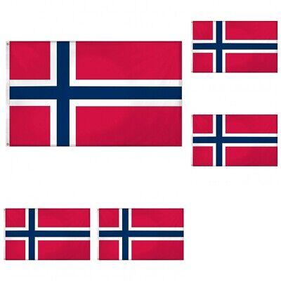 3x5 Norway Premium Flag 3/'x5/' Norwegian House Banner Grommets Polyester Outdoor