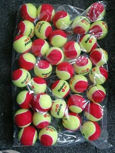 12x-Babolat-Mini-Tennis-Coaching-Red-Junior-Tennis-Balls-Garden-Dogs-Party-NEW