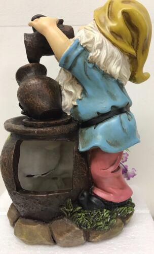 Coloré indoor gnome eau fonction ou extérieur jardin gnome ornement-d