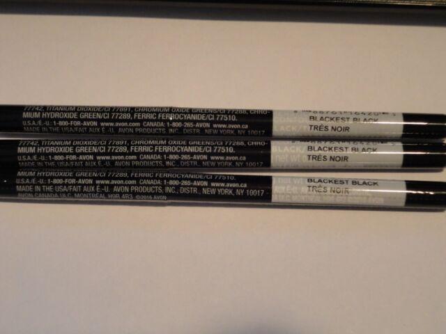 10 AVON glimmerstick BLACKEST BLACK eyeliner LOT OF 10 NEW sealed discontinued