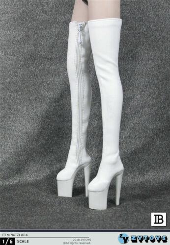 "ZYTOYS 1//6th Female Zipper Long High-heeled Boots Model ZY1014 F 12/"" Figure Body"