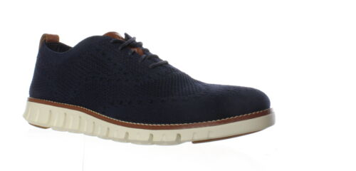 Cole Haan Mens Zerogrand Stitchlite Marine Blue//Ivory Wing Tips Size 11