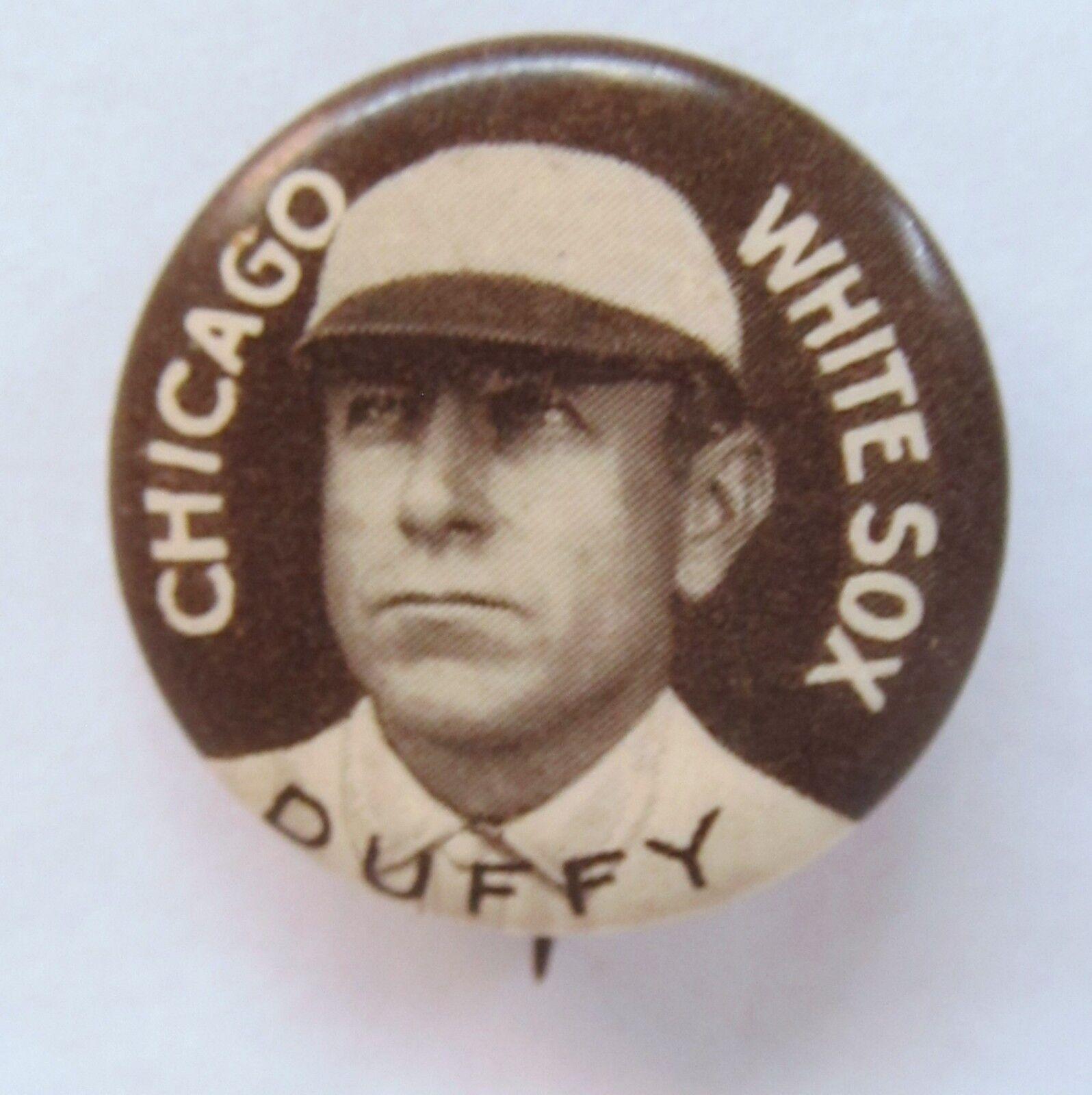 1910 P2 HUGH DUFFY grande ltr White Sox HALL OF FAME (TÊTE DU RENOMMÉ) bouton pinback Sweet Caporal