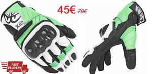 Guanti-Moto-Berik-NexG-Verde-Nero-Bianco-Ultima-Taglia