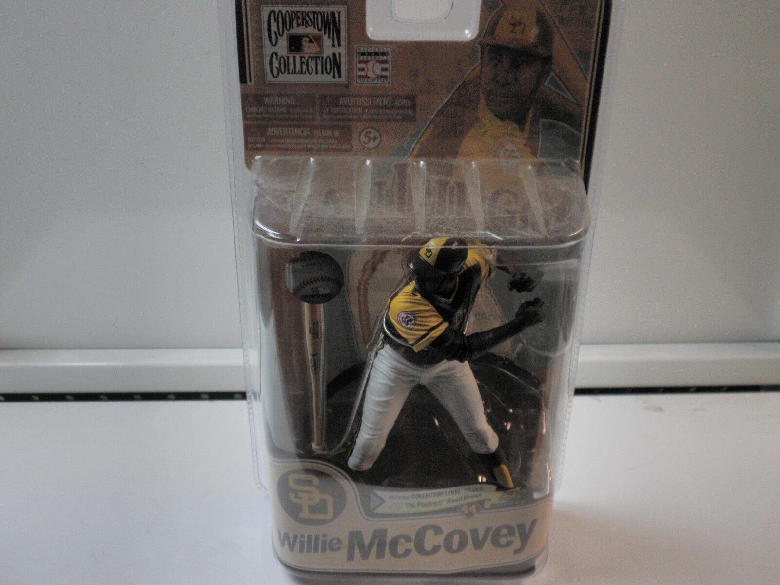 MCFARLANE MLB COOPERSTOWN SAN DIEGO PADRES WILLIE MCOVEY 76 PADRES ROAD BROWN