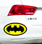 11cm Batman Pattern car bonnet decals Auto modification Reflective stickers
