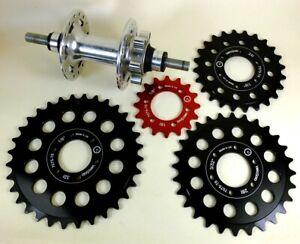 VeloSolo-UK-Bolt-on-CNC-1-8-034-3-32-034-Large-Disc-Cog-24-28-32-fixed-track-BLACK