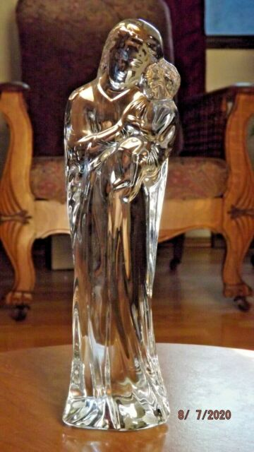 BACCARAT Crystal MADONNA & CHILD 9 1/4