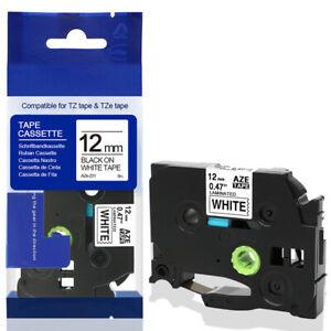 10x Schriftband-Kassetten für Brother TZ-231 TZE-231 Schwarz auf Weiß 12mm 8m