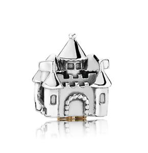 Fashion 925 Silver castle Charm European Spacer Beads Fit Necklace Bracelet  #/%