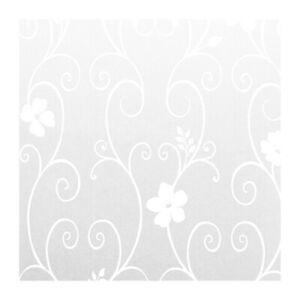 40x100cm-Sichtschutzfolie-Milchglasfolie-Fenster-Folie-Blume-Deko-selbstkle-Q9U4
