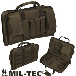 Valigetta-Custodia-Borsa-Porta-Pistola-Pistole-e-accessori-OD-Verde-Miltec-Large
