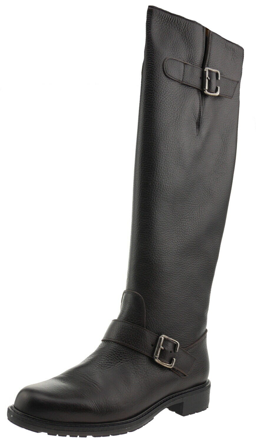 Pollini Sa26272 Leather Boots with Buckle Brown 187894
