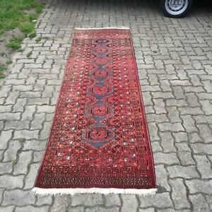 Old Rug Quell Summer Thirst Purposeful Antiker Orient Teppich Läufer Handgeknüpft