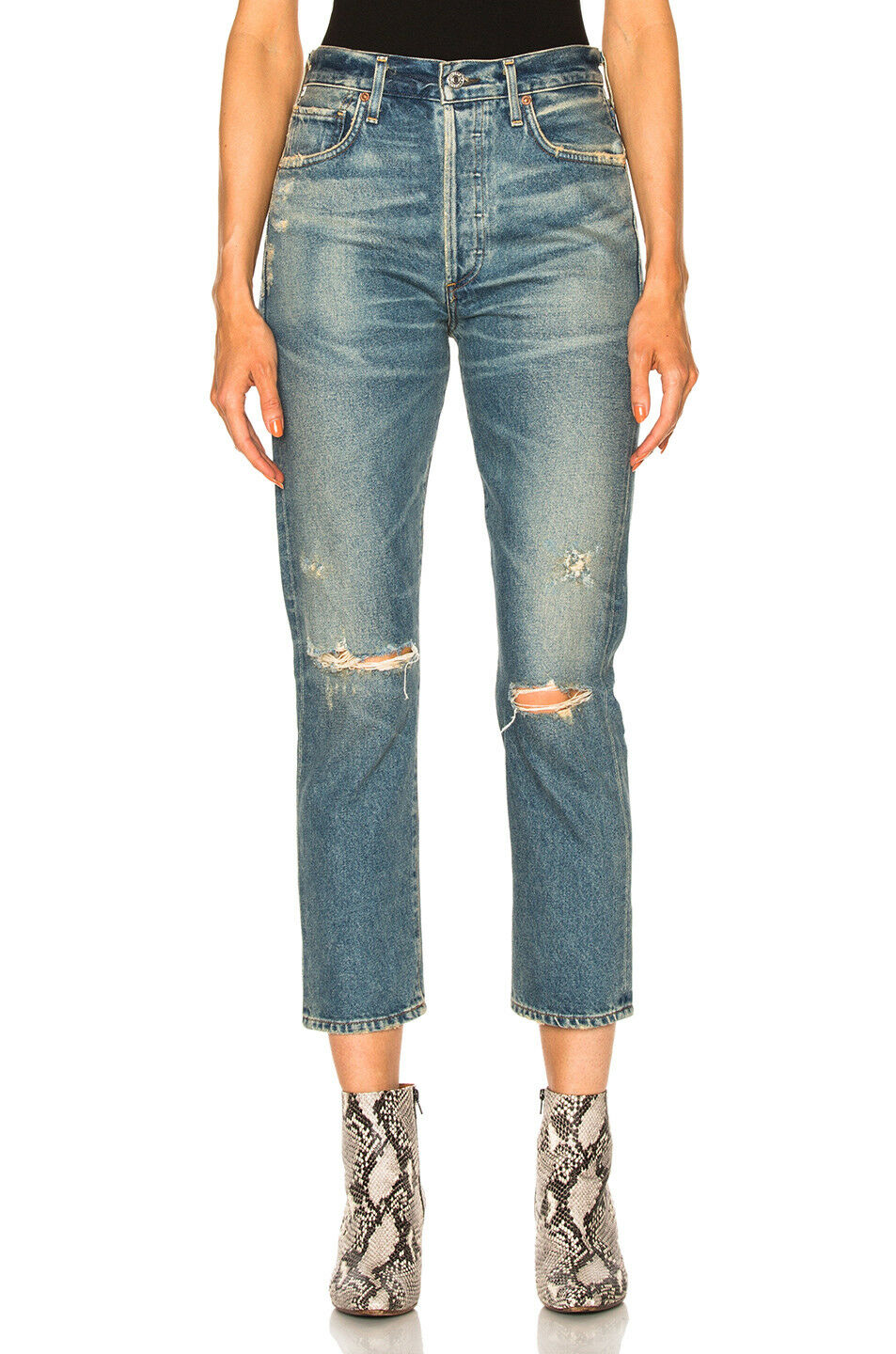 NWT CITIZENS OF HUMANITY DREE CAMEO CROP HIGH-RISE SLIM STRAIGHT JEANS 31