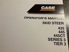 Case Skid Steer 435 445 445ct Series 3 Tier3 Operators Manual