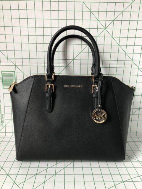 eb66ac3a3e885 Michael Kors Ciara 35T8GC6S3L Large Satchel - Black for sale online ...