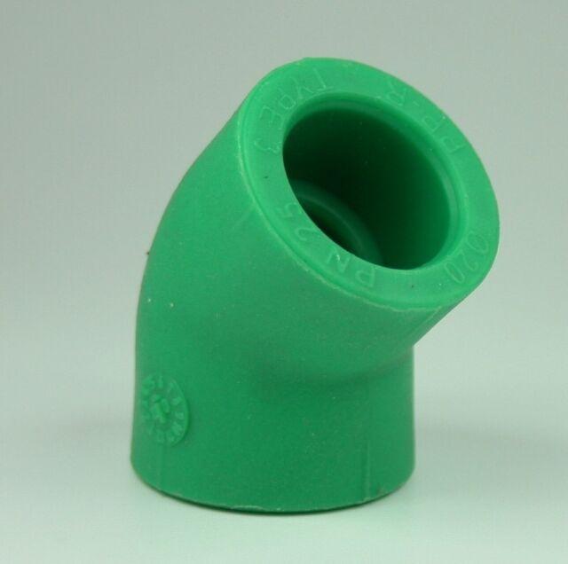 10 x PPR Aqua Plus 90° Winkel mit 40mm Durchmesser Fusiotherm