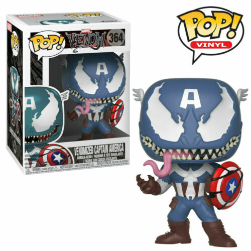Venomized Avengers Captain America Venom Marvel Funko Pop Vinyl Figures UK