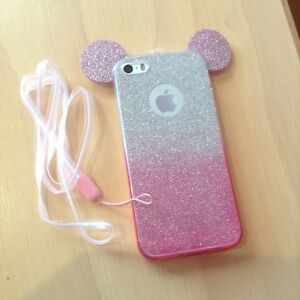 newest 6e719 af7e8 Details about Disney Mickey Mouse Ears Silicone Case For iPhone 5/5s/SE