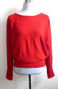 maglia a 46 lavorato a maglia maglione Madeleine 44 Maglione lavorato rosso Novità rosso Rqc7Iga
