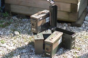 5-Stueck-US-Army-Munitionskisten-Gr2-gebr-Gr-27-10-18-Cartridge-box-used-Angebot