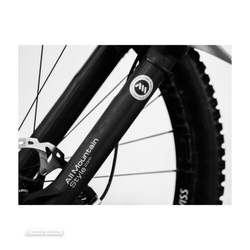 All Mountain Style HONEYCOMB MTB Fork Guard Protector BLACK//SILVER