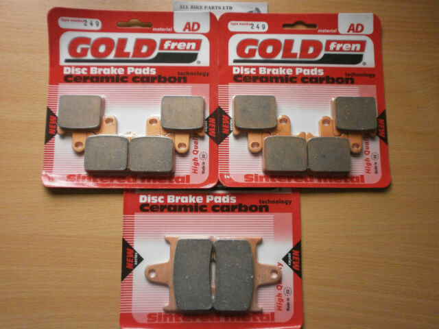 KAWASAKI GTR 1400 > FULL SET SINTERED HH FRONT & REAR BRAKE PADS < GTR1400 (ABS)